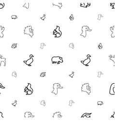 Wild icons pattern seamless white background vector