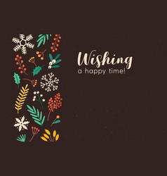wishing happy time banner template xmas vector image