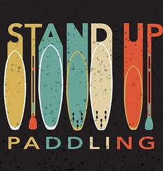 With signature stand up paddling with stan vector