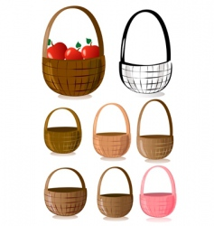 baskets vector image vector image