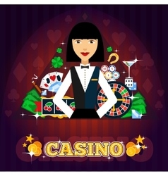 Casino Dealer Concept vector image vector image