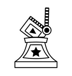 clapper movie trophy awards outline vector image