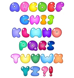 fat bubble alphabet vector image