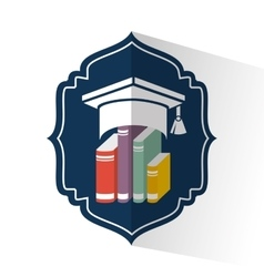 graduation school emblem icon vector image vector image