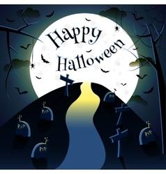 Happy halloween moon vector image