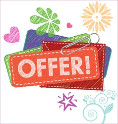 offer card vector image