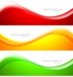 Set of wave banners vector image vector image