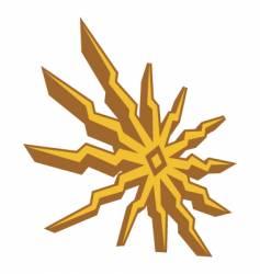 sun shape vector image vector image