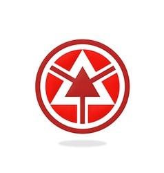 triangle round arrow logo vector image
