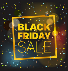 black friday sale concept black friday sale vector image vector image