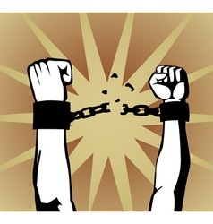 breaking the chain vector image