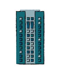 building facade apartment home icon vector image