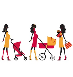 Chick Motherhood vector image vector image