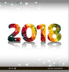 creative happy new year 2018 design card vector image