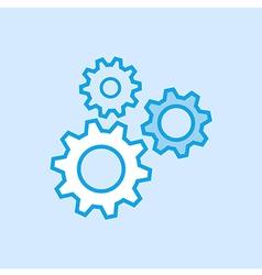 Gears Cog Icon Simple Blue vector image vector image