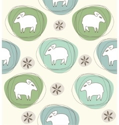 Sheep a seamless pattern vector image