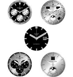 smart watch faces vector image vector image