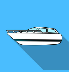 white motor boat to transport a few peopleone of vector image vector image
