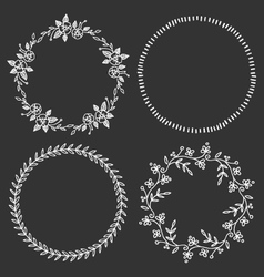 Circle frames round borders hand drawn doodle vector image vector image