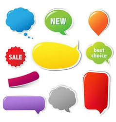 Color Labels Set With Text vector image vector image