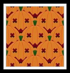 Halloween pumpkin seamless pattern background vector