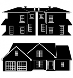 residences building vector image vector image