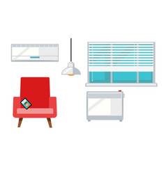 room with armchair and window vector image vector image