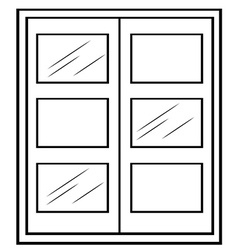 Single window vector image vector image