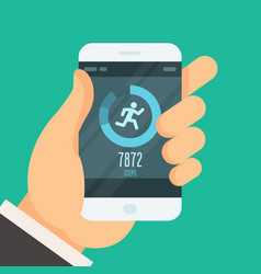 smartphone fitness tracker app - lose weight vector image vector image