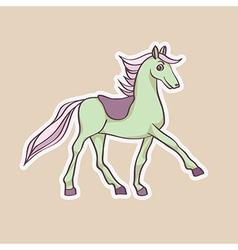 baby horse sticker vector image vector image