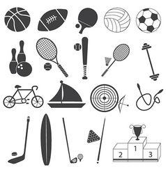 Basic Sport Icons Set vector image