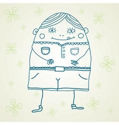 fanny man postcard vector image vector image