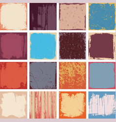 Grunge Square Backgrounds vector image vector image