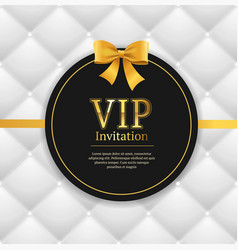 quilted invitation card vector image