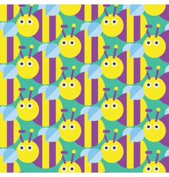 Seamless bee pattern Insect Pattern vector image vector image