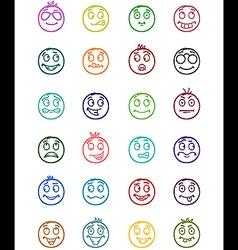 24 smiles icon set 8 vector image