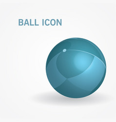 3d isometric ball vector image