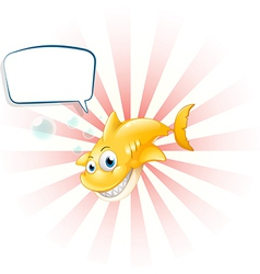 A yellow shark with an empty callout vector image