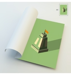 A4 Business Blank Leader concept Tower 3d vector image