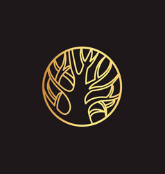 abstract element for design gold decoration vector image vector image