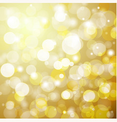 abstract golden bokeh background with a light vector image