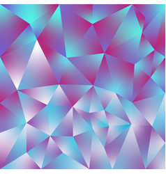 Abstract polygonal square background holographic vector
