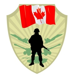 Army of Canada vector image vector image
