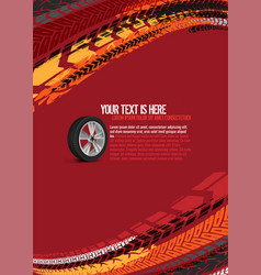 automotive tire background vector image