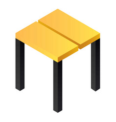 backless stool icon isometric style vector image