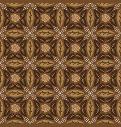 Beautiful flower motifs design on java batik vector