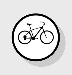 bicycle bike sign flat black icon in vector image