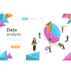 business statistics and analytics flat isometric vector image