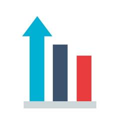 business statistics bar arrow vector image