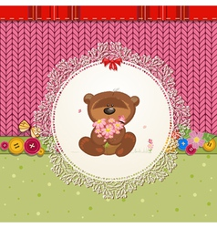 card bear vector image vector image
